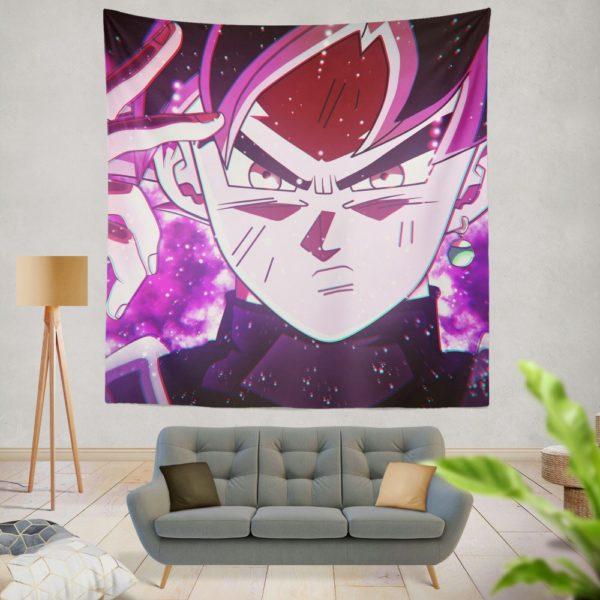 Goku Black Super Saiyan Rose Wall Hanging Tapestry