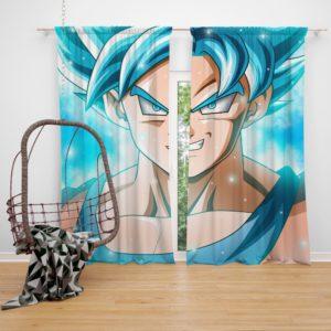 Goku Japanes Super Hero Bedroom Window Curtain
