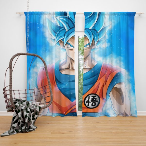 Goku Japanese Hero Anime Bedroom Window Curtain