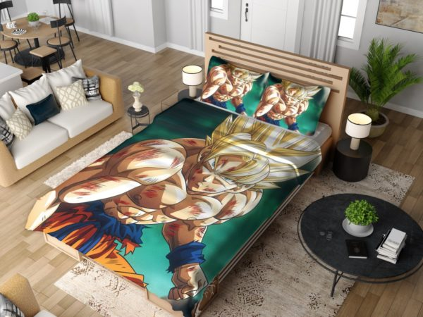 Goku Super Saiyan Dragon Ball Anime Bedding Set 4