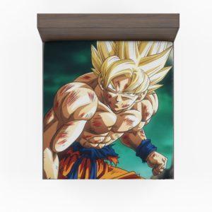 Goku Super Saiyan Dragon Ball Anime Fitted Sheet