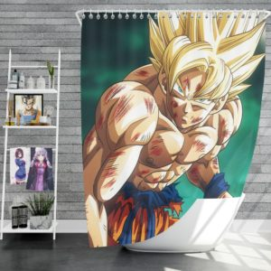 Goku Super Saiyan Dragon Ball Anime Shower Curtain