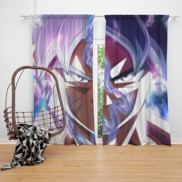 Goku Ultra Instinct Dragon Ball Super Bedroom Window Curtain