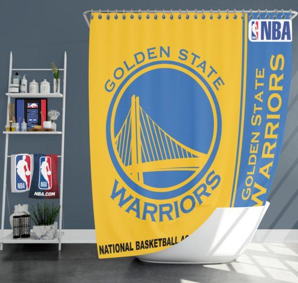 Golden State Warriors NBA Basketball Bathroom Shower Curtain