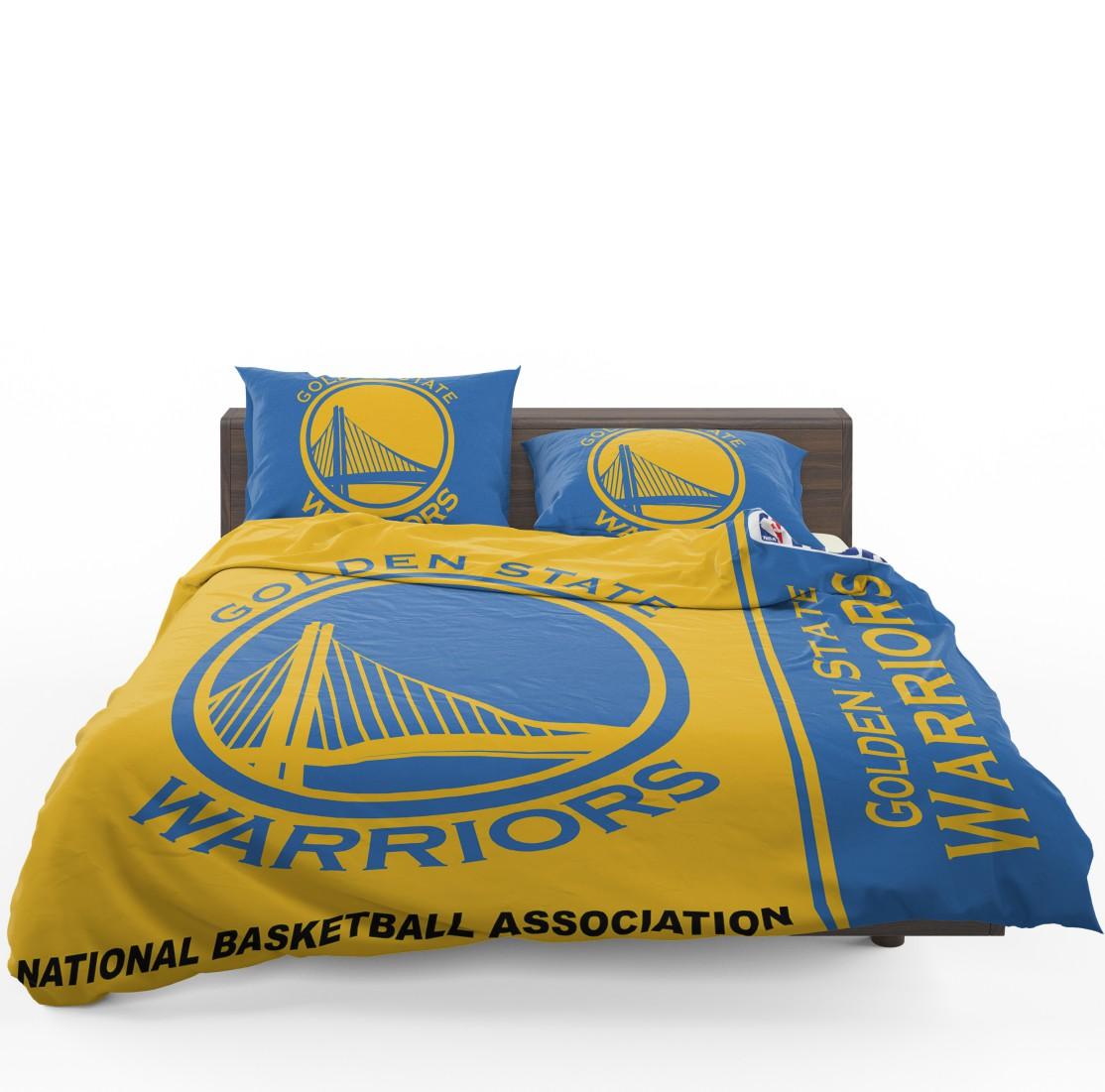 Golden State Warriors Nba Basketball Bedding Set