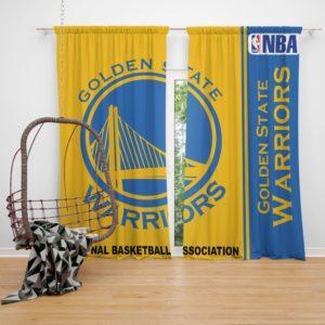 Golden State Warriors NBA Basketball Bedroom Window Curtain