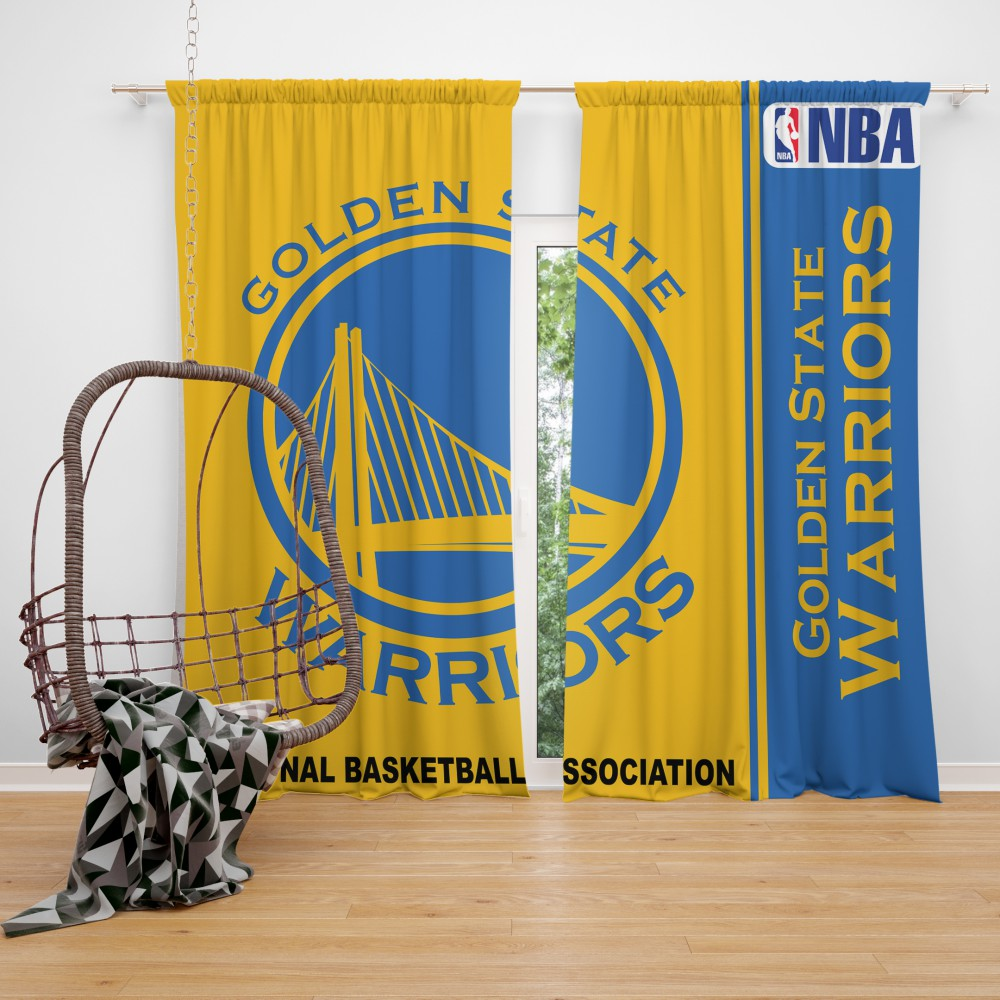 Golden State Warriors NBA Basketball Bedroom Window Curtain