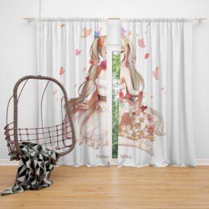 Hatsune Miku Vocaloid Anime Bedroom Window Curtain