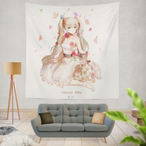 Hatsune Miku Vocaloid Anime Wall Hanging Tapestry