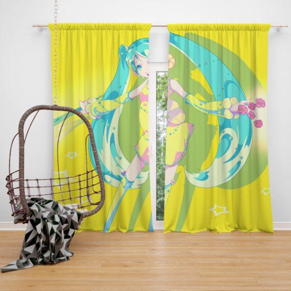 Hatsune Miku Vocaloid Japanese Anime Bedroom Window Curtain