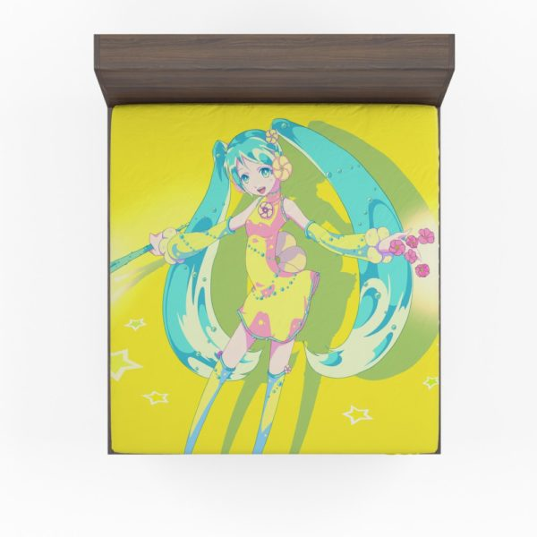 Hatsune Miku Vocaloid Japanese Anime Fitted Sheet