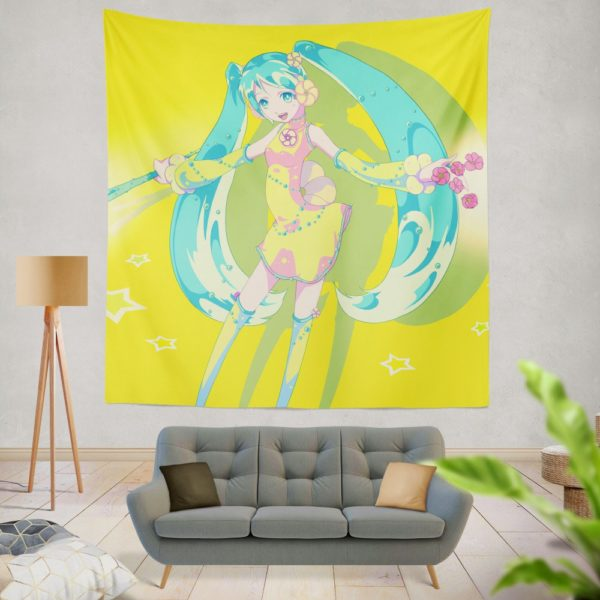 Hatsune Miku Vocaloid Japanese Anime Wall Hanging Tapestry