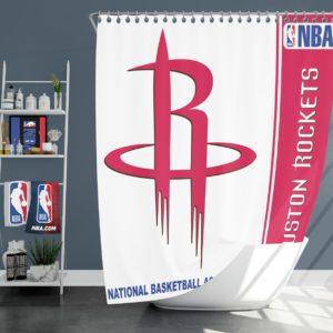 Houston Rockets NBA Basketball Bathroom Shower Curtain