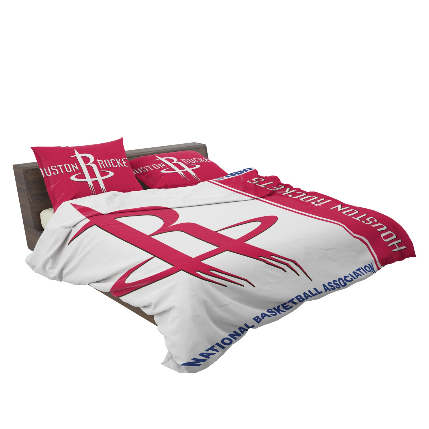 Houston Rockets Nba Basketball Bedding Set 3