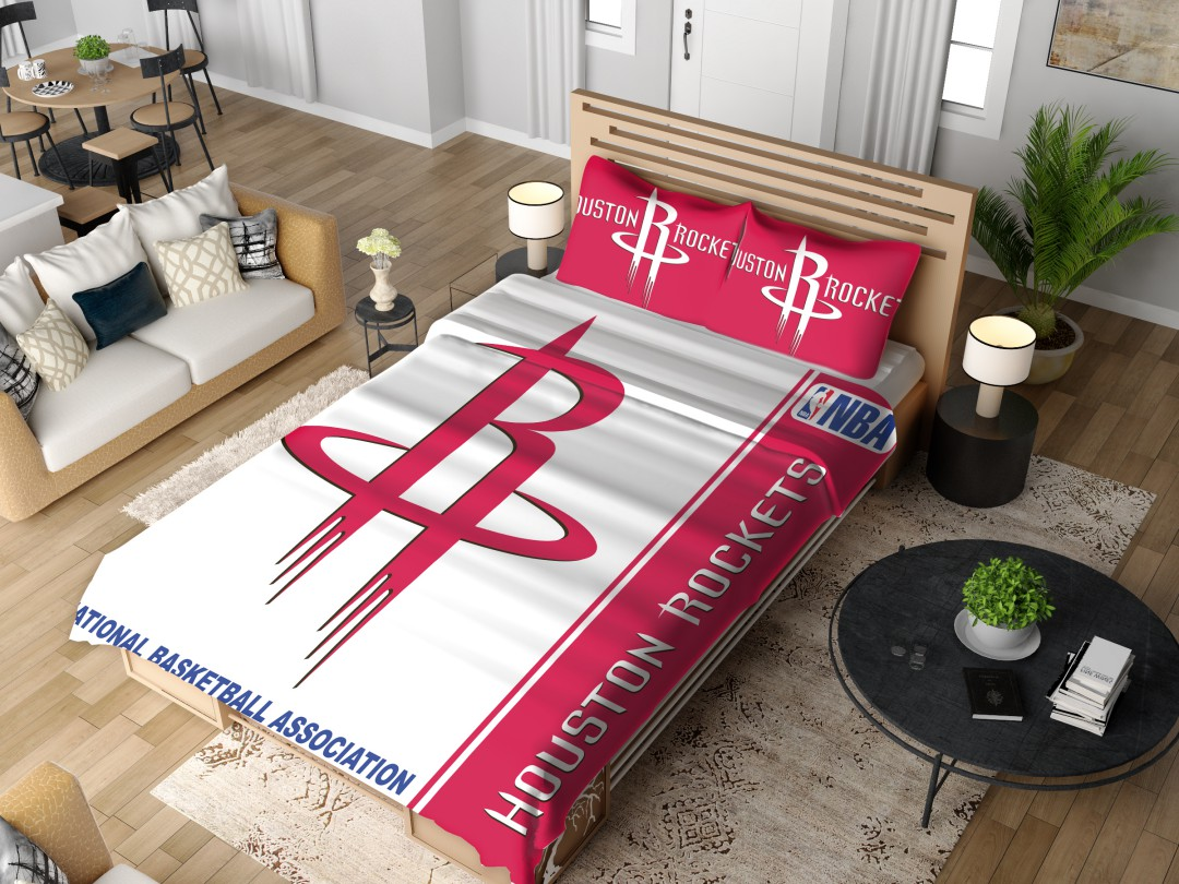 Houston Rockets Nba Basketball Bedding Set 4