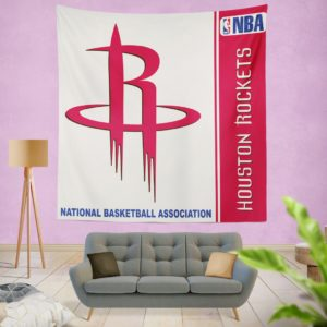 Houston Rockets NBA Basketball Bedroom Wall Hanging Tapestry