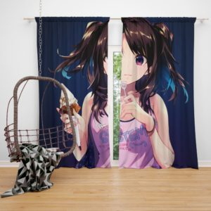 Ice Cream Desert Anime Girl Bedroom Window Curtain