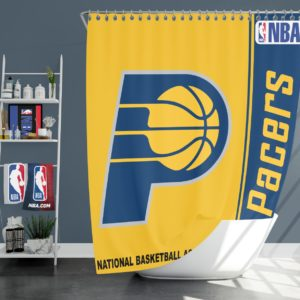 Indiana Pacers NBA Basketball Bathroom Shower Curtain