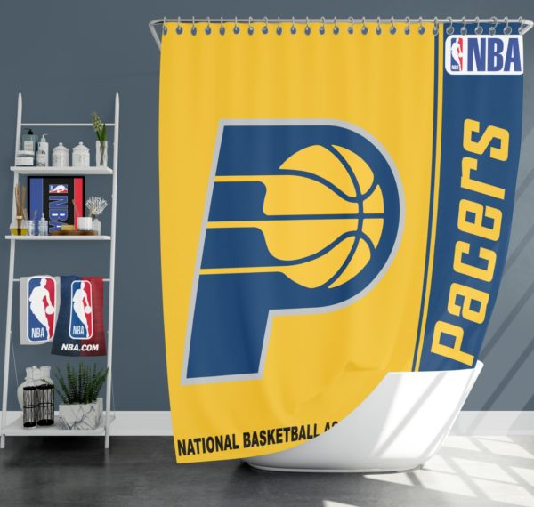 Indiana Pacers NBA Basketball Bathroom Shower Curtain