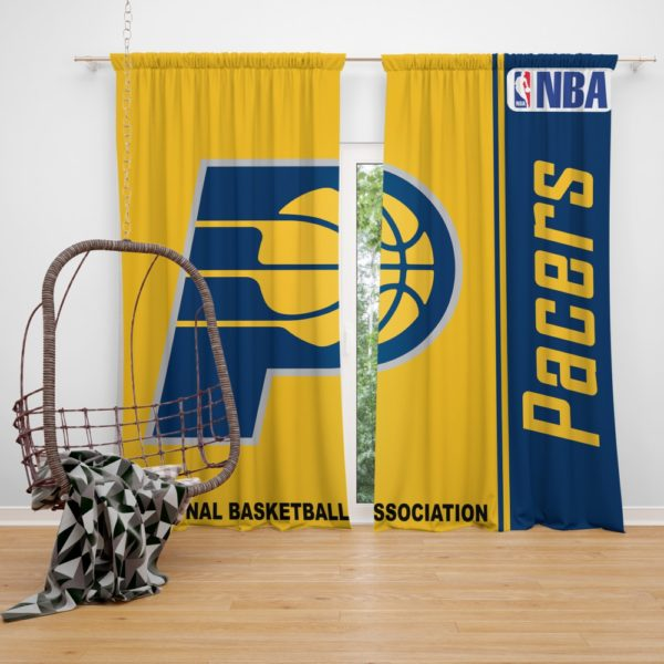 Indiana Pacers NBA Basketball Bedroom Window Curtain