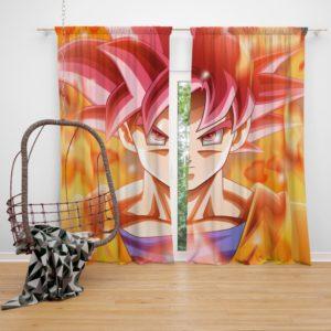 Japanes Anime Goku Bedroom Window Curtain