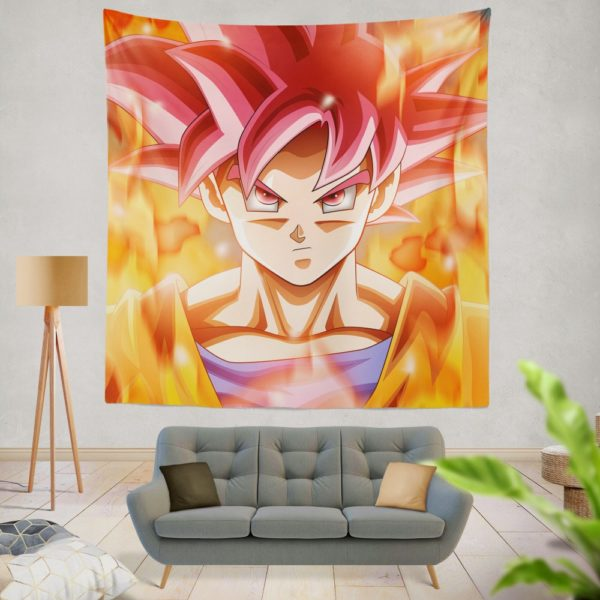 Japanes Anime Goku Wall Hanging Tapestry