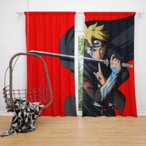 Japanese Anime Boruto Naruto Bedroom Window Curtain