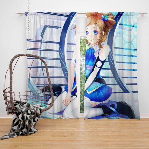 Japanese Anime Girl Bedroom Window Curtain