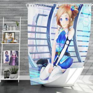 Japanese Anime Girl Shower Curtain