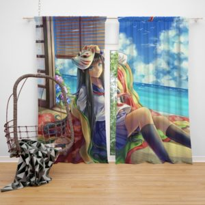Japanese Anime School Girl Bedroom Window Curtain