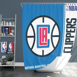 LA Clippers NBA Basketball Bathroom Shower Curtain