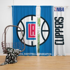 LA Clippers NBA Basketball Bedroom Window Curtain