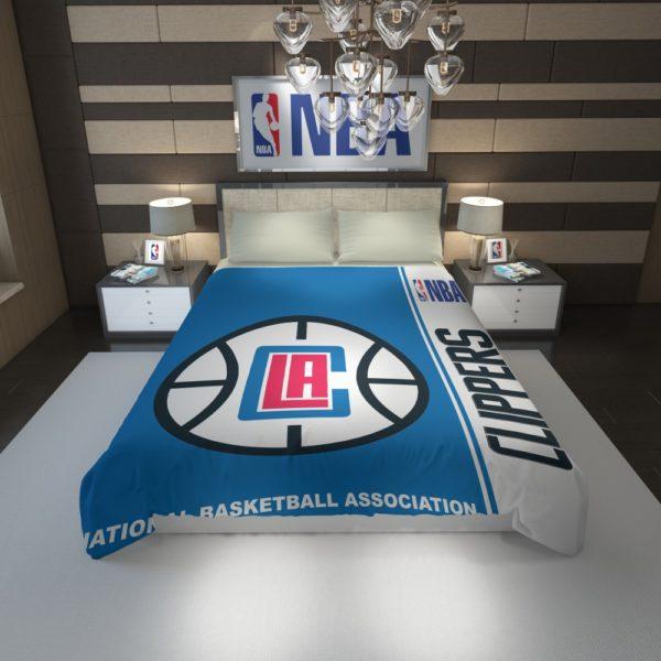 LA Clippers NBA Basketball Duvet Cover 1