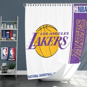 Los Angeles Lakers NBA Basketball Bathroom Shower Curtain