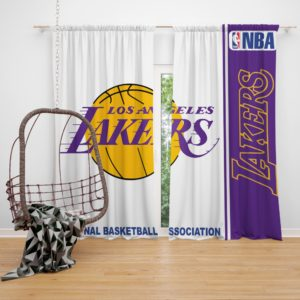 Los Angeles Lakers NBA Basketball Bedroom Window Curtain