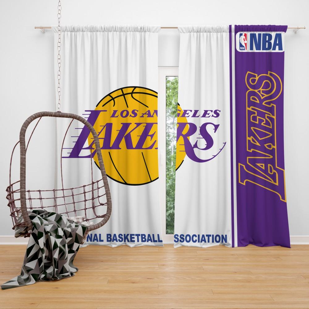 Los Angeles Lakers Nba Basketball Bedroom Window Curtain Ebeddingsets