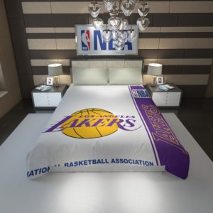 Los Angeles Lakers NBA Basketball Duvet Cover 1