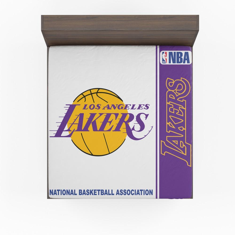 Nba Basketball Los Angeles Lakers: Los Angeles Lakers NBA Basketball Fitted Sheet