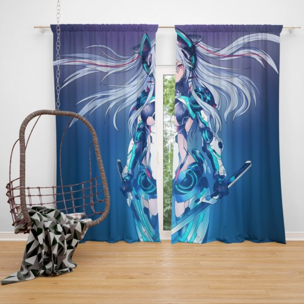 Mecha Girl Cute Anime Bedroom Window Curtain