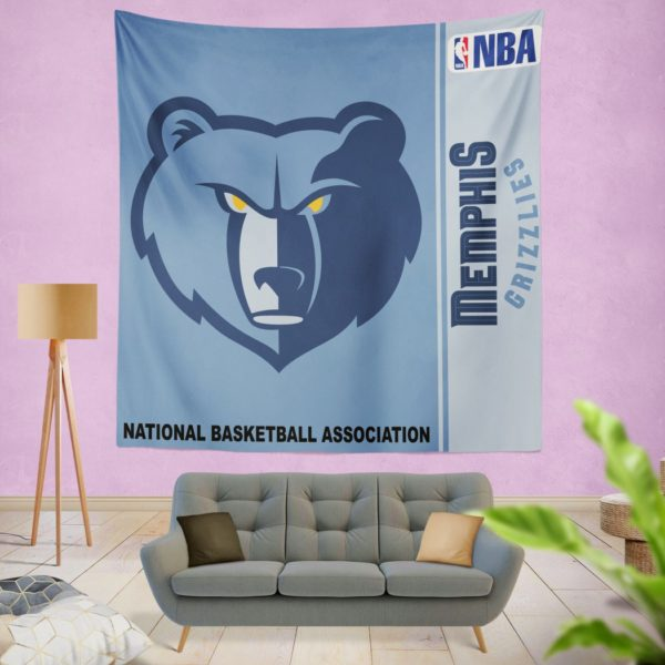 Memphis Grizzlies NBA Basketball Bedroom Wall Hanging Tapestry