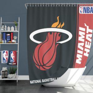 Miami Heat NBA Basketball Bathroom Shower Curtain