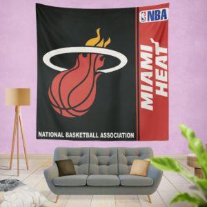 Miami Heat NBA Basketball Bedroom Wall Hanging Tapestry
