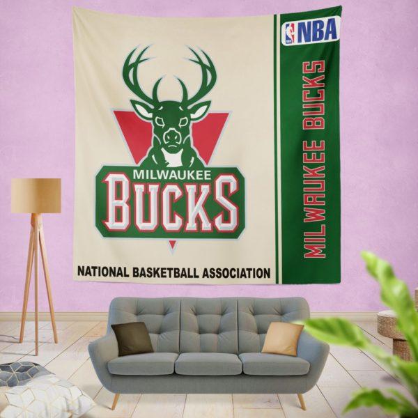 Milwaukee Bucks NBA Basketball Bedroom Wall Hanging Tapestry