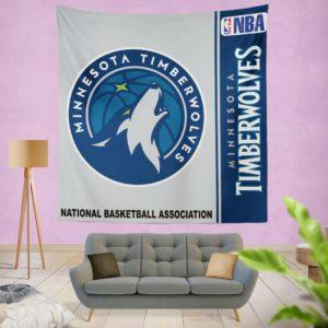 Minnesota Timberwolves NBA Basketball Bedroom Wall Hanging Tapestry