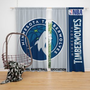 Minnesota Timberwolves NBA Basketball Bedroom Window Curtain