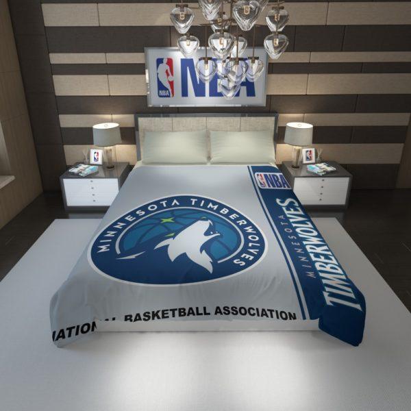 Minnesota Timberwolves NBA Basketball Duvet Cover 1