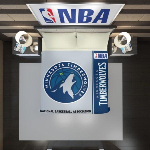 Minnesota Timberwolves NBA Basketball Duvet Cover 2