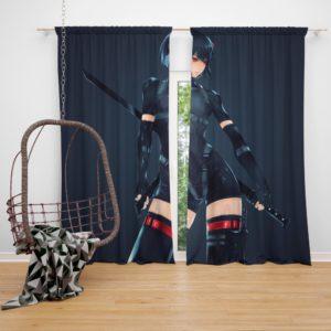 Motoko Kusanagi Ghost In The Shell Bedroom Window Curtain
