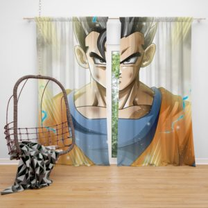 Mystic Gohan Dragon Ball Super Bedroom Window Curtain