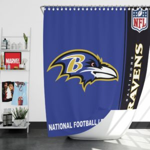 NFL Baltimore Ravens Shower Curtain